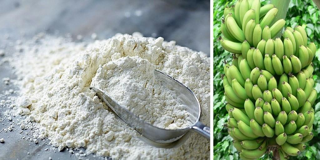 farina di banana verde, green banana flour