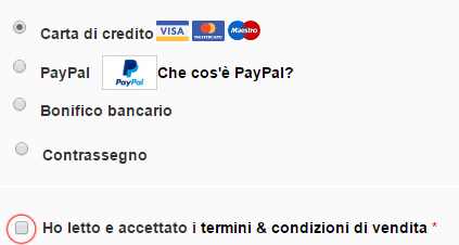 Metodo di pagamento