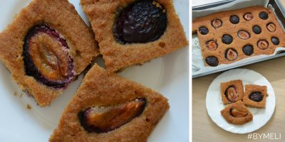 Gluten and sugarfree Plum Cake